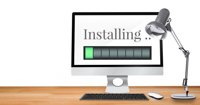 Installing progress status power bar on computer