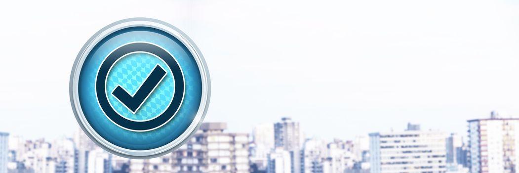 Correct tick mark icon in city