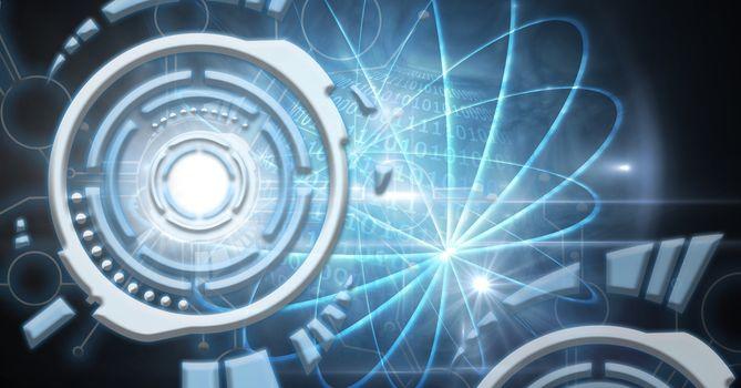 Digital composite of Futuristic technology interface
