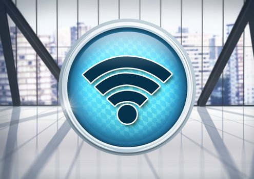 Wi-Fi icon in city office