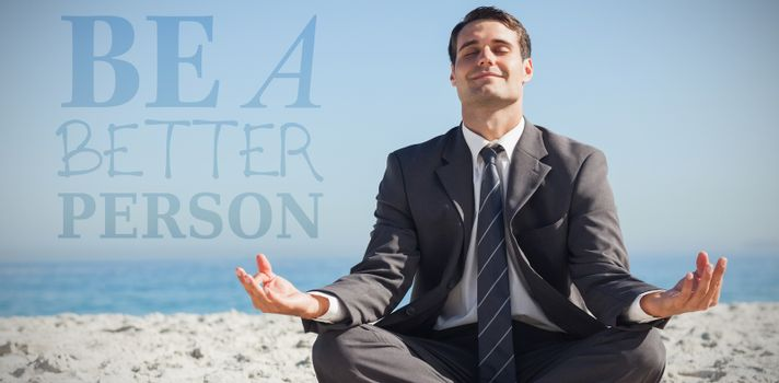 Composite image of be a better person