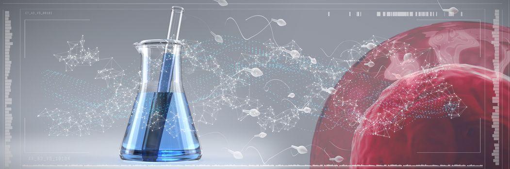 Composite image of human sperm