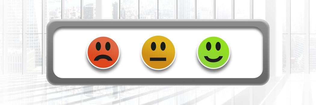 feedback smiley faces satisfaction icons by window