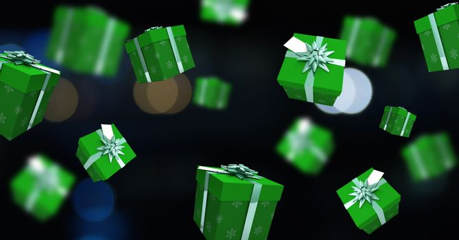 Gift boxes floating