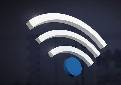 Wi-Fi symbol icon and dark background