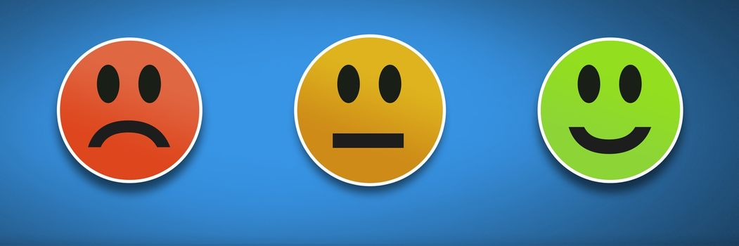 feedback smiley faces satisfaction icons