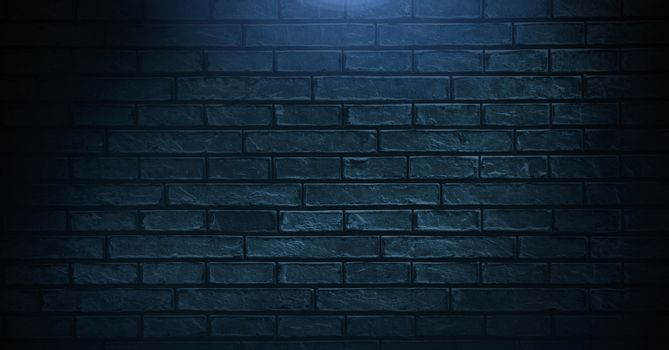 Vignette on blue wall background