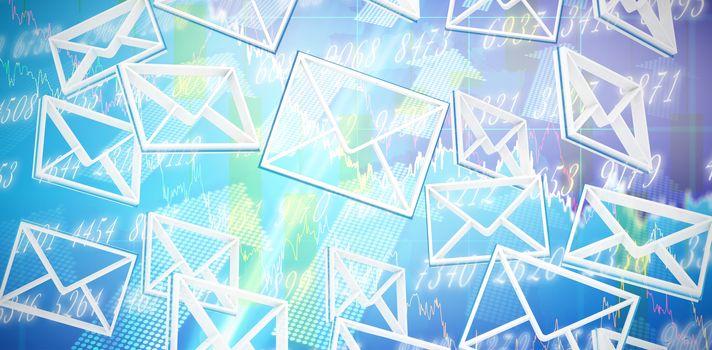 Composite image of multiple message symbols
