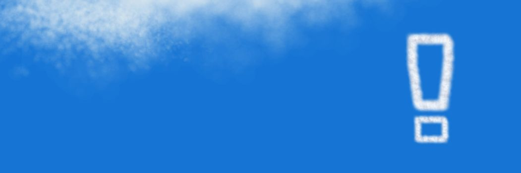 Exclamation mark Cloud Icon with sky