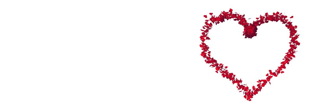 Digital composite of Valentines love heart