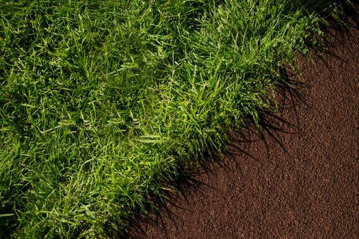 Diagonal separate green and brown