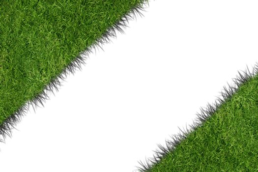 white line diagonal and grass