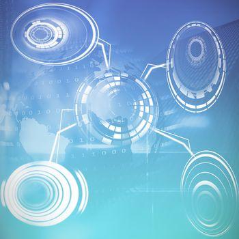 Composite image of futuristic object