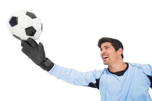 Goal keeper in action