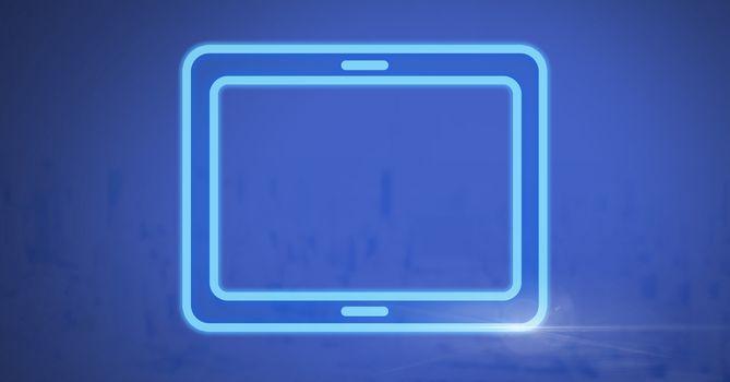 electric tablet rectangular icon