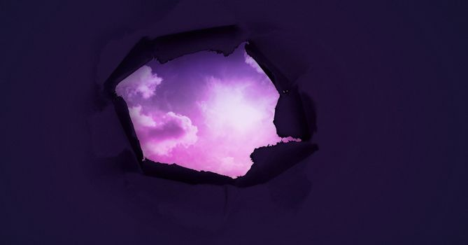 Surreal paper hole