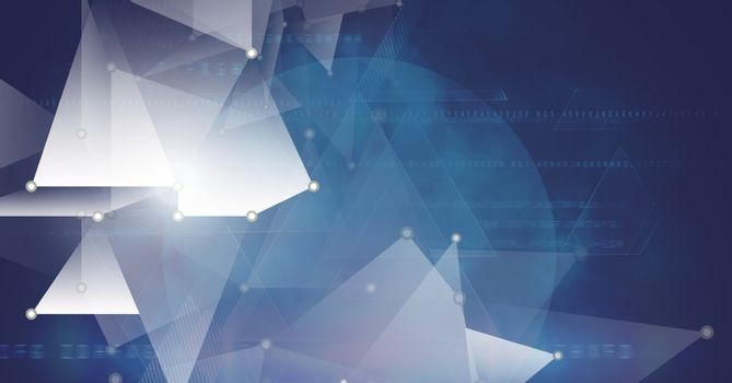 Triangular polygon shapes coalescing background