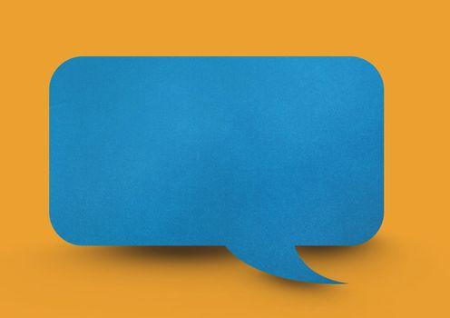 Paper speech bubble