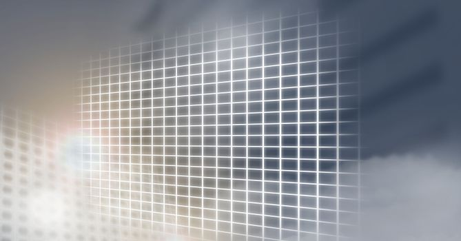 grid interface glowing