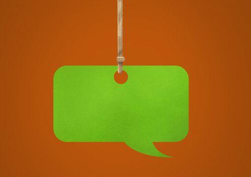Hanging paper speech bubble