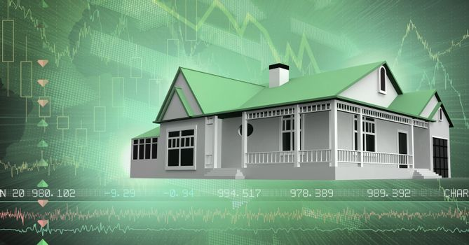 House with financial economic interface