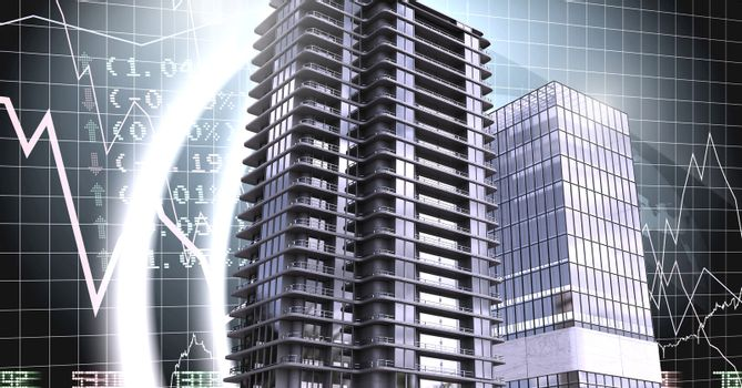 Buildings with financial economic background
