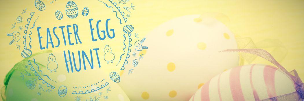 Composite image of easter egg hunt logo