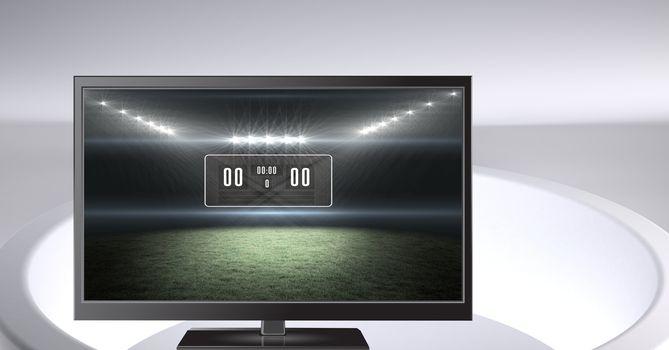 sports arena stadium score on television