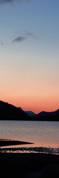 Mountains during dawn