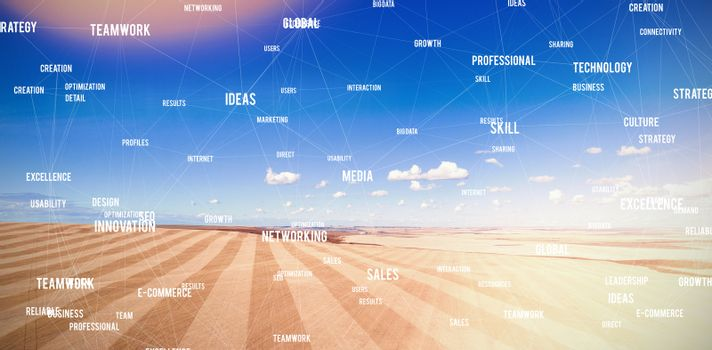 Composite image of sphere of words