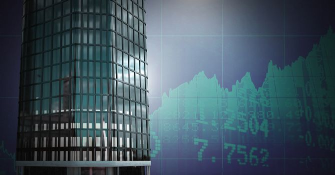 Tall buildings with economic finance background
