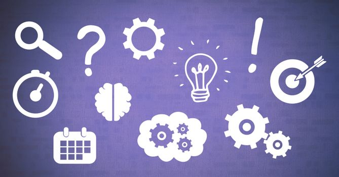 Ideas and brainstorm process icons