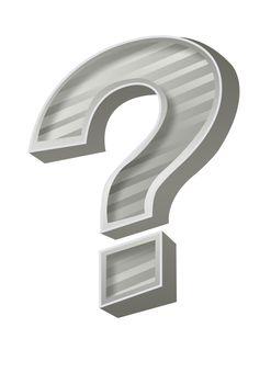 grey question mark