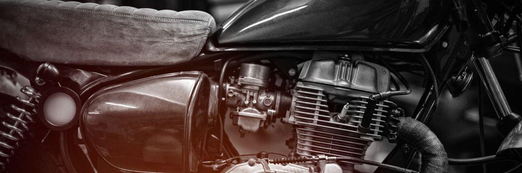 Motorbike at garage