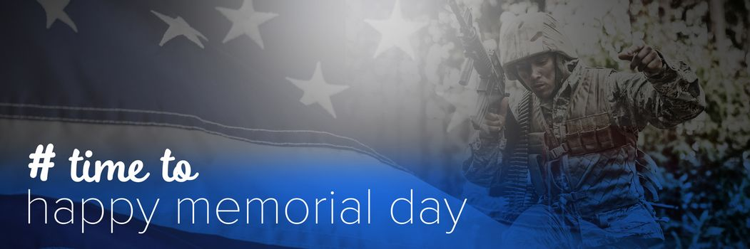 Composite image of time to happy memorial day