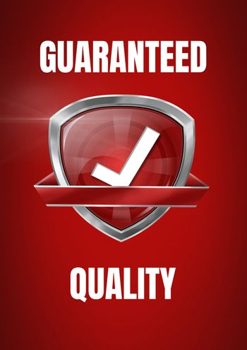 Guaranteed quality icon with correct tick