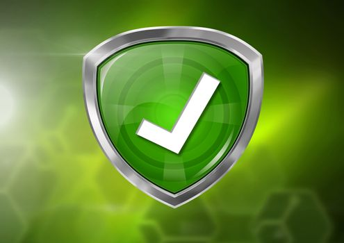 correct tick icon on green background