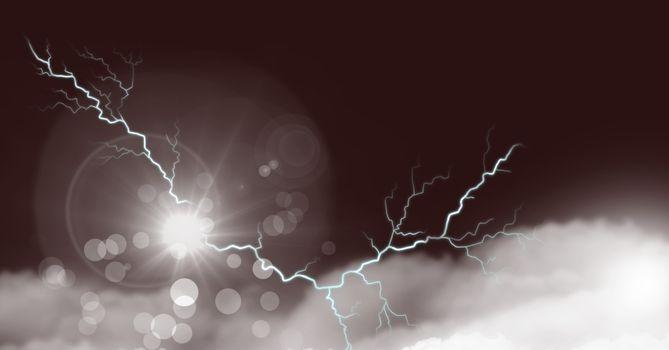 Laptop struck with lightning power