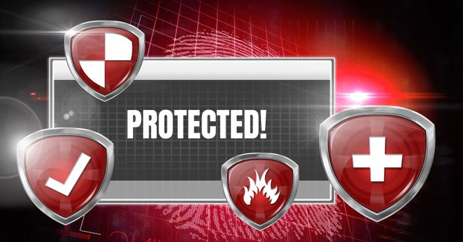 Antivirus security protection shields software