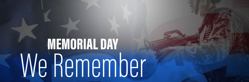 Composite image of digital title for memorial day