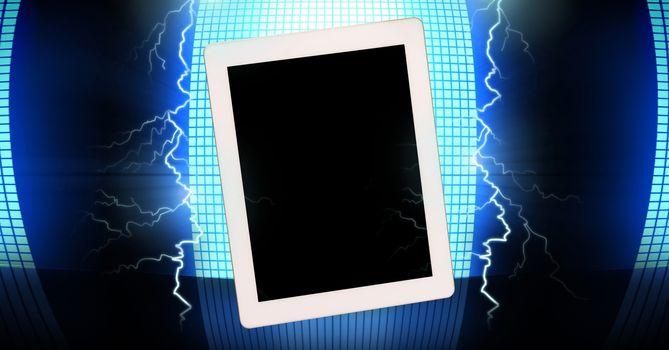 Lightning strikes and tablet