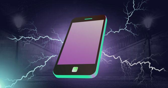 Lightning strikes and phone