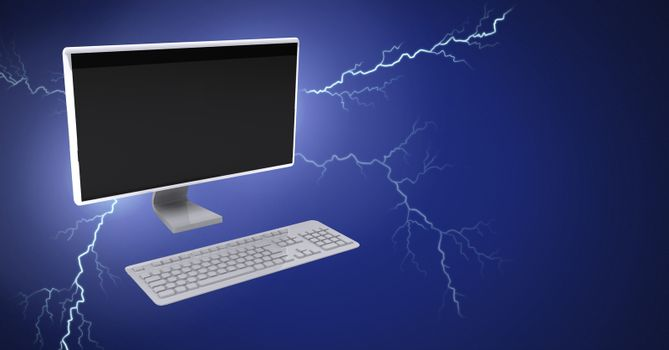 Lightning strikes and computer