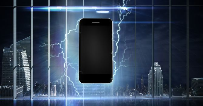 Mobile phone struck with lightning power