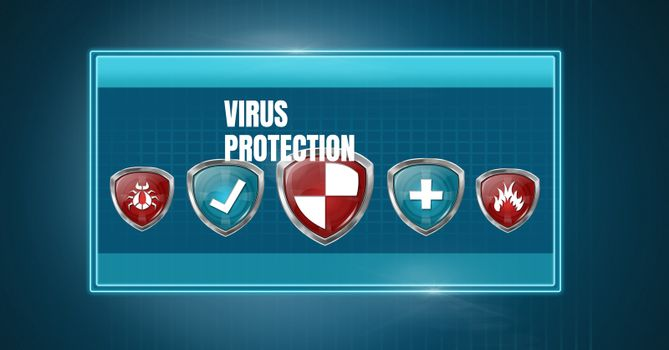 Antivirus security protection shield software