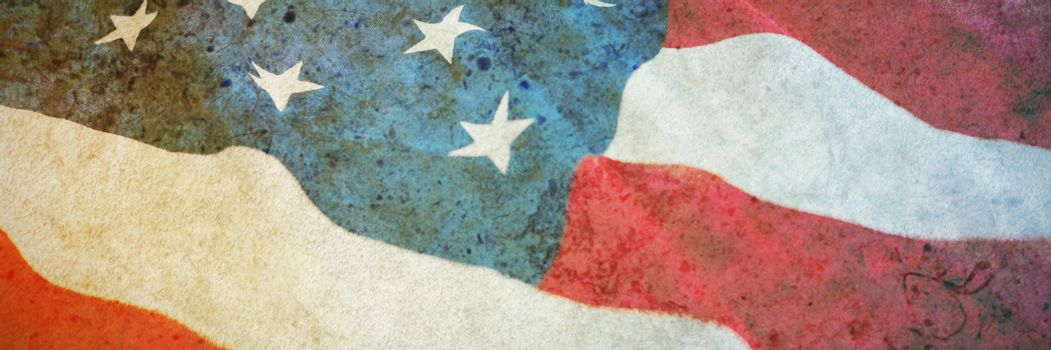 American flag with stars and stripes