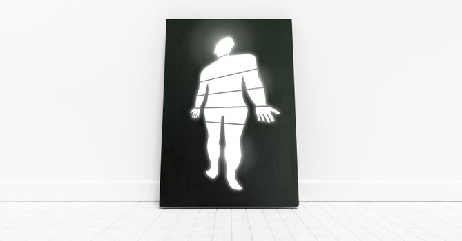 Educational Human Body sections icon on board