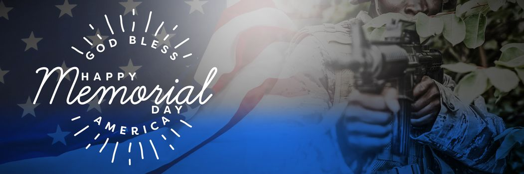 Composite image of logo for memorial day