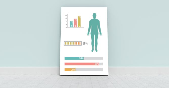 Human Body Chart against wall