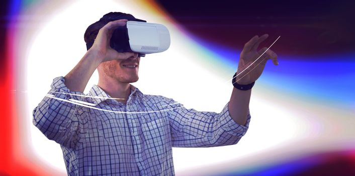 Businessman working with VR